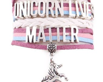 Unicorn Lives Matter Adjustable Wrap Bracelet