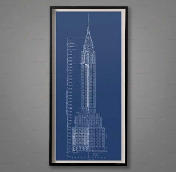 Chrysler building blueprint elevation plans chrysler like this item malvernweather Gallery