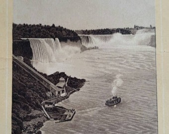 Antique Trade Card Jersey Coffee Niagara Falls