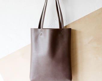 Mocha Leather Tote bag No.Tl- 9061