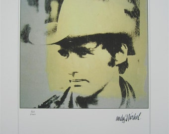 Andy Warhol print Dennis Hopper lithograph with passepartout limited edition