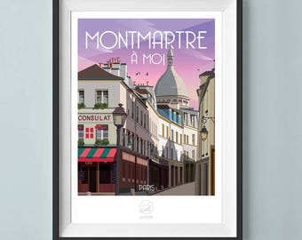 Poster Paris Montmartre