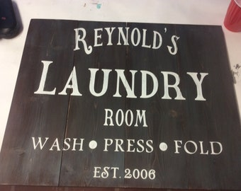 Custom Pallet Laundry sign, 24x24, rustic
