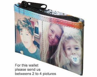 SMALL custom coin purse made using pictures from you - FREE SHIPPING - gift gifts for mom girlfriend personalized wallet purse wallets case