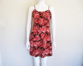 90s Rose Print Dress