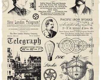 London Telegraph Rubber Stamp Collection - Steampunk
