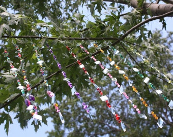 TWELVE Strings of Tree Jewelry!  Hanging Garden Art:  Multicolored