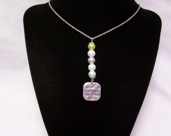 Necklace, Beaded Necklace, Charm Necklace