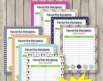 Summer Days Recipe Favorites Lists