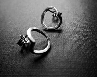 Silver earrings: CIRCLE