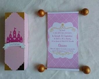 Parchment Princess theme invitation