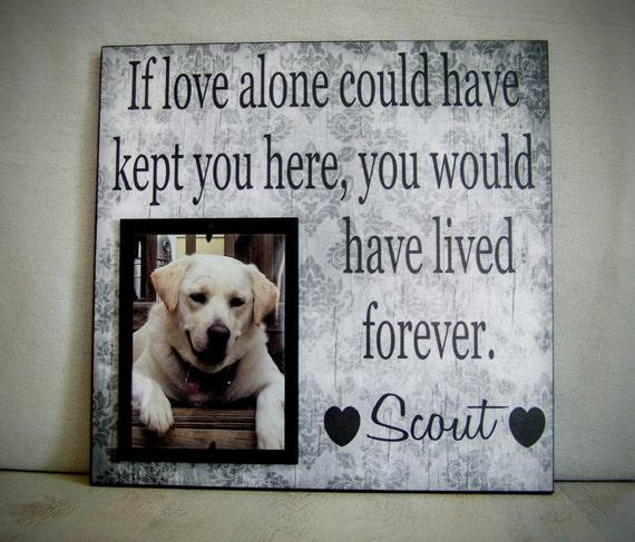 Pet Picture Frame Gift Pet Memorial Gift Dog Memorial Frame