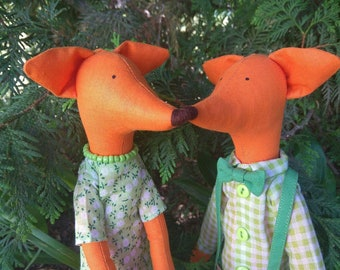 Tildа doll  pair of foxes