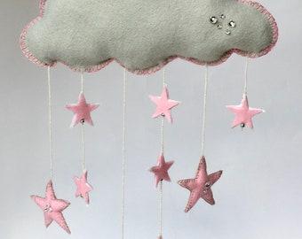 Pink star cloud mobile