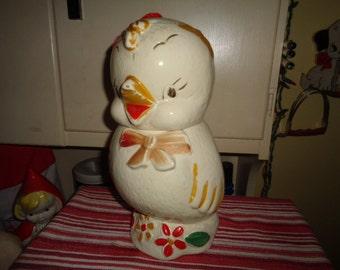 Vintage 1939 Kitsch APCO Chick Cookie Jar
