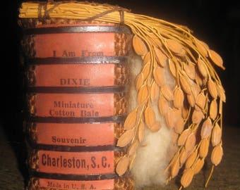 Souvenir of Dixie, Charleston South Carolina, Miniature Cotton Bale