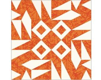 Love gravatar paper pieced block PDF quilt pattern