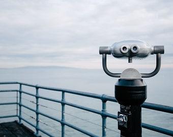 "Ocean Photography Print, Landscape Photography, Large Wall Art, Santa Monica, California Art Print, Travel, Wanderlust ""Ocean View"""
