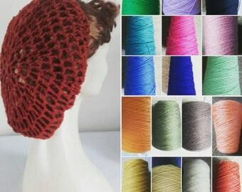 Snood, crochet snood,1940s snood,hair snood,hair net,all colours available