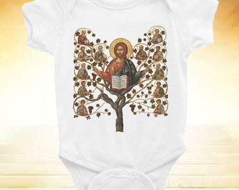 Jesus Onesie I Am The Vine You Are The Branches John 15 5 Baby Jesus Bodysuit