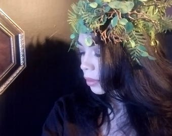 POISON IVY   Fantasy Head Piece Greenery Branches