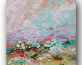 Landscape Painting Abstract Painting Impressionist Original Impasto Painting Bold Bright Painting Acrylic Painting on Canvas Linda Monfort