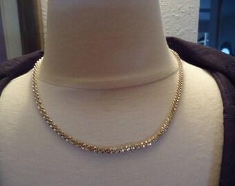 "Vintage 18"" 925 Sterling Silver Fancy Cut Chain, 14 Grams"