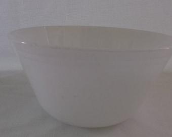 Vintage Milk Glass Mixing Bowl, Federal Mixing Bowl