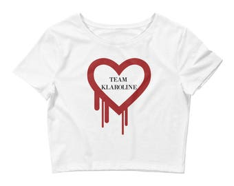 Women's Team Klaroline The Originals Vampire Diaries Crop Tee Klaus Michaelson