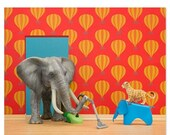 30% OFF SALE Nursery decor animal art print with elephant: Tickle Trunk