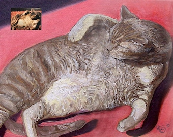 Custom Cat Portrait,Custom Pet Portrait,Painting From Photo,Cat Oil Painting,Hand Painting Cat,Custom Cat Gift,Custom Cat Art,Pet Loss