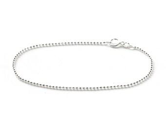 Faceted ball chain bracelet - delicate sterling silver bracelet - simple chain bracelet - dainty silver - minimal jewelry - Ellie bracelet