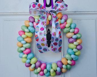 Easter Egg Wreath • Spring Easter Wreath