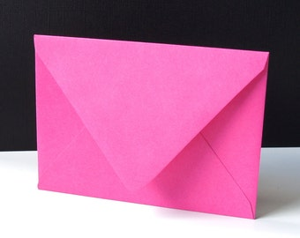 "10 Fuchsia (Hot Pink) RSVP Envelopes . 4Bar Envelopes . 3.625"" x 5.125"""