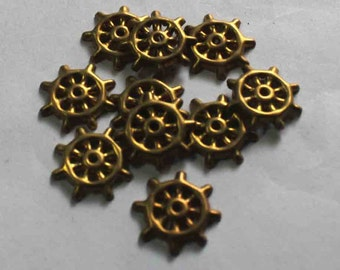 50 bronze wheel  round shape  Sequins/100% Metal base/KBMS688