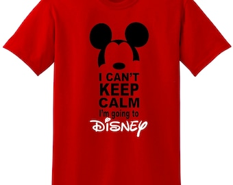 Mickey Keep Calm I'm going to Disney shirt