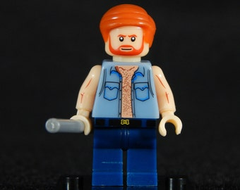 Chuck Norris Inspired Minifig Walker Texas Ranger Building Block Toy