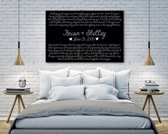 Valentine's Day Gift, Deluxe Canvas UPGRADE, Wedding Vows, Any Canvas in the Shop