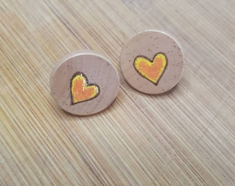 Suicide Awareness Mental Health Awareness Wood Stud Earrings Wood Studs Wood Stud Earring Circles