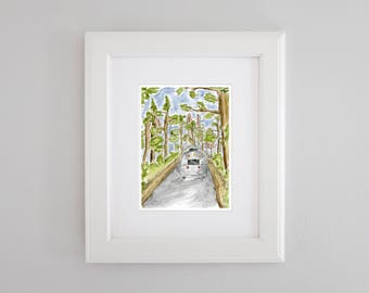 Vintage Airstream in the Woods PRINT