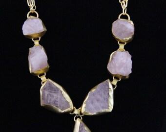 Rose Quartz Bohemian Necklace