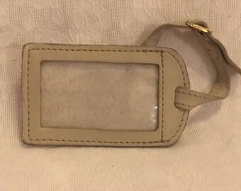 Stone Mountain Tan Leather Luggage Tag