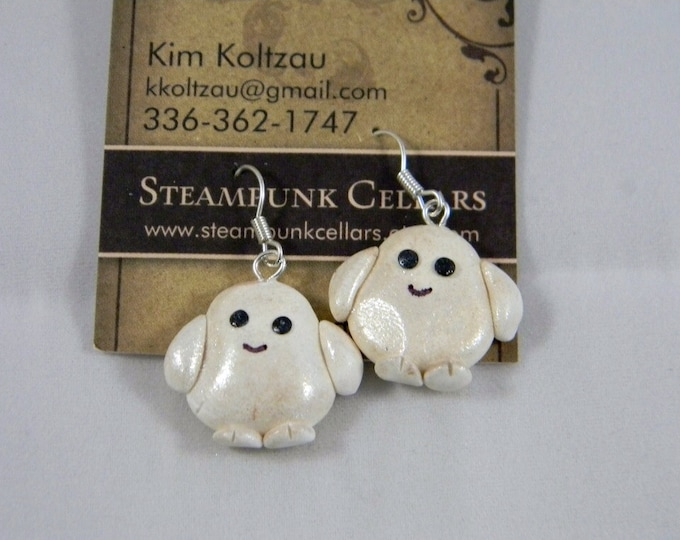 Adipose inspired earrings. The fat that just walks away