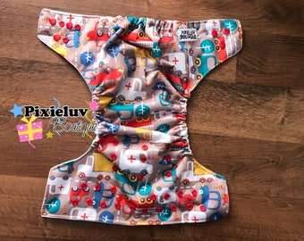 City Traffic Jam One Size Pocket Cloth Diaper (Daily Use or Photoshoot)