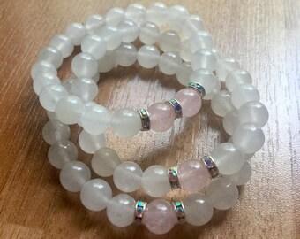 Light and Love Quartz Bracelet Stack