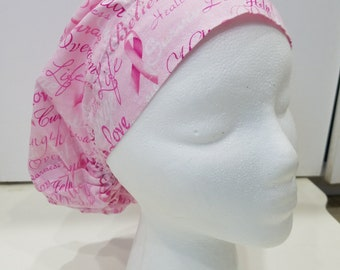 Breast Cancer Strength and Love Scrub/ Surgical Cap
