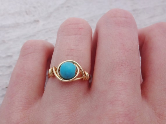 Golddraht Ring Drahtring gold Ring Draht umwickelt Ring