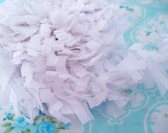 Tissue Garland Festooning Fringe - Marshmallow White - 2 inch - 1 Yard