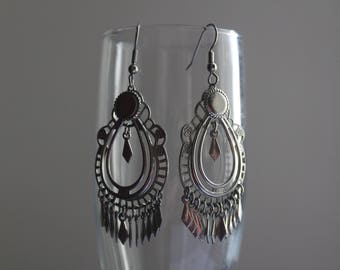 Re-purposed Silver Chandelier Earrings