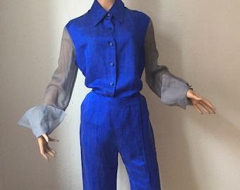 Gianfranco ferre, silk suit
